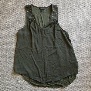 Army green tunic tank top